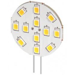 Ampoule LED G4 12V 2W blanc froid diamètre 30 mm