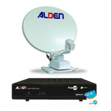 Antenne automatique satellite ALDEN One Light diamètre 65 cm avec démodulateur