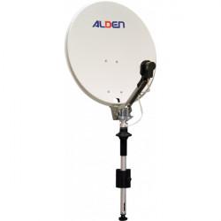 Antenne Satellite manuelle ALDEN diamètre 65 cm sur mât et sans démodulateur