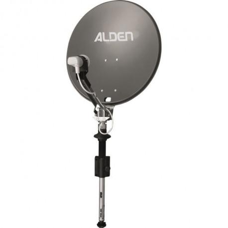 Antenne Satellite manuelle ALDEN SATLIGHT Platinium diamètre 60 cm sur mât et avec démodulateur manuel