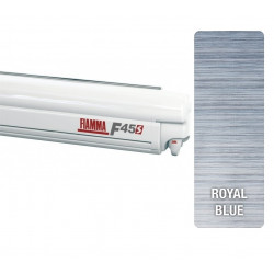 Store Fiamma F45 S 260 boîtier Polar White -toile: Royal Blue