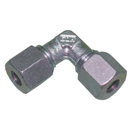 Raccord à gaz coudé bicone 8 mm