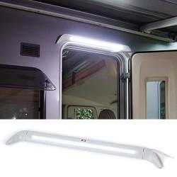Eclairage gris 48 leds pour porte pour caravane et camping car