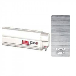 Store Fiamma F45 S 300 boîtier: Polar White - Toile : Royal Grey