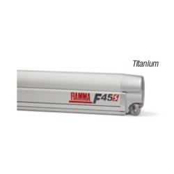 Store Fiamma F45 S 450 Boîtier: gris Titanium - Toile : Royal Blue