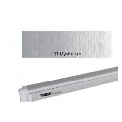 Thule Omnistor 4900 - Boîtier anodisé gris - toile : Mystic gris - L:3,50m