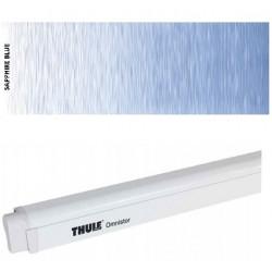 Store Thule 4900 - Boîtier laqué blanc - toile : Saphire bleu - L:3,50m