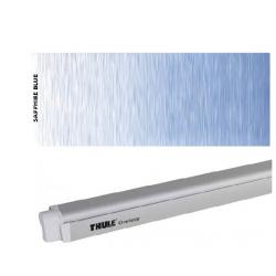 Thule Omnistor 4900 - Boîtier anodisé gris - toile : Saphire bleu - L:4m