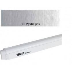 Thule Omnistor 4900 Boîtier laqué blanc et toile Mystic gris L:4,50m
