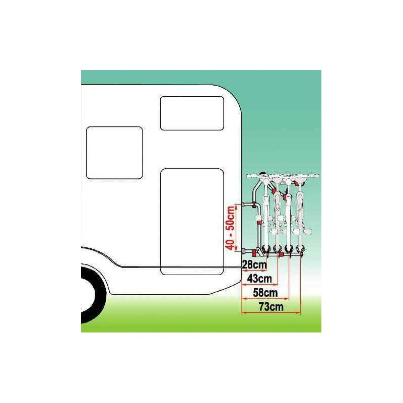 Porte v los carry bike pro compact pour camping car - Porte velo electrique pour camping car ...