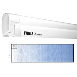Store THULE Omnistor 8000 boîtier manuel blanc - toile: Saphir blue L: 4.5 m