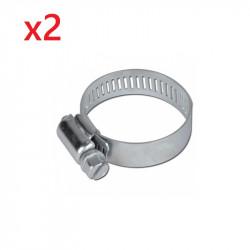 2x Colliers Ruban acier pour tuyau Diamètre de 16 à 25 mm.