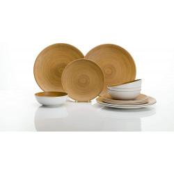 Set vaisselle 12 pièces en fibres de bambou modèle FOJA