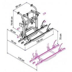 Rallonge porte-vélos Thule lift ascensionnel 95-150 cm