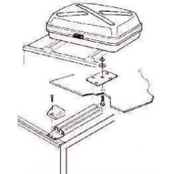Kit de montage pour coffre de toit pour caravane et camping-car