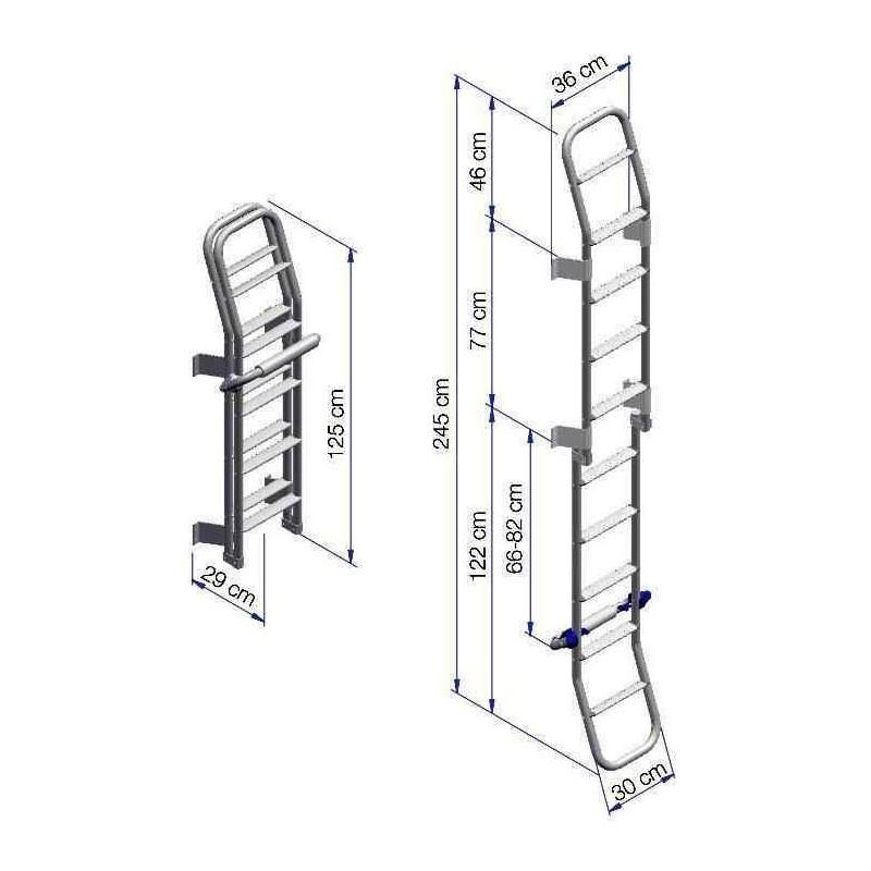 echelle pliante pour camping car 10 marches ext rieur thule. Black Bedroom Furniture Sets. Home Design Ideas