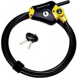 Câble 10 mm, 1m80 avec sécurité pour porte-vélos